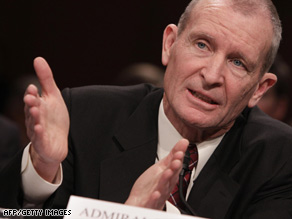 Retired Adm. Dennis Blair answers questions at his confirmation hearing last week.