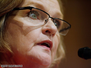 """You can't use taxpayer money to pay out $18 billion in bonuses,"" an angry Sen. Claire McCaskill says."