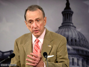 Sen. Arlen Specter is one of the GOP senators being pressured to support the stimulus bill in new ads.