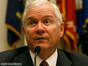 Defense Secretary Robert Gates is meeting with President Obama and Vice President Biden on Monday.