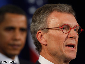 Former Sen. Tom Daschle apologized for making mistakes on his tax records.