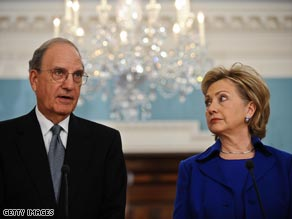 Secretary of State Hillary Clinton said she will send Mideast envoy George Mitchell back to the region within weeks.