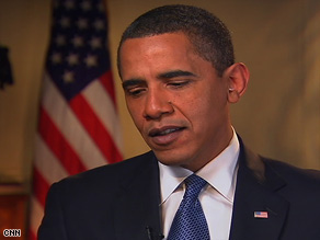 President Barack Obama is interviewed by CNN's Anderson Cooper on Tuesday.