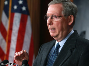 Sen. Mitch McConnell says his goal is to trim the stimulus bill and target it right at the problem.