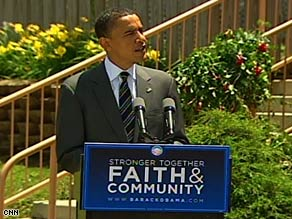 On the campaign trail, President Obama's views on federal money and discrimination seemed clear.