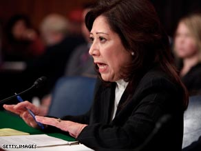 A Senate committee has delayed the confirmation vote for Labor Secretary-designate Hilda Solis.
