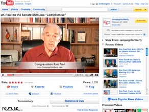 "In a video, Rep. Ron Paul criticized ""born-again budget conservatives."""