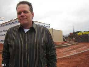 Laid-off boss Tim Baxter is skeptical that he'll get a construction job from infrastructural stimulus programs.