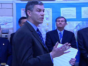 Education Secretary Arne Duncan visits with students at Wakefield High School in Arlington, Virginia, Tuesday.