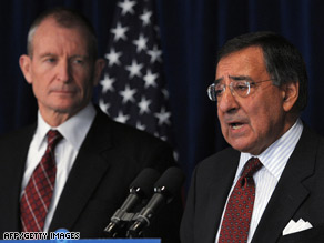 Dennis Blair, left, was picked to be director of national intelligence and Leon Panetta to head the CIA.