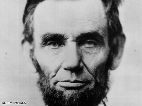 Abraham Lincoln, seen in an 1861 photo, tops the list of former presidents in a new survey of historians.