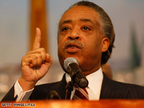 "Al Sharpton says he wonders whether the cartoon ""is making a less-than-casual inference"" to a form of racism."