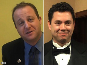 Freshmen Jared Polis and Jason Chaffetz get uncharacteristically formal for events on Capitol Hill.