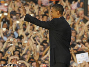 Then-candidate Barack Obama gave a major speech in Berlin, Germany, in July of 2008.