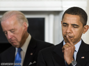President Obama and Vice President Biden meet with governors at the White House on Monday.