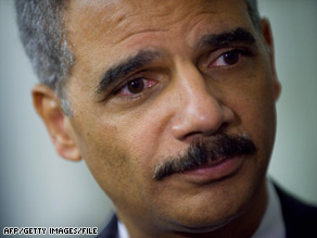 Attorney General Eric Holder said he didn't witness any prisoner mistreatment during his trip.