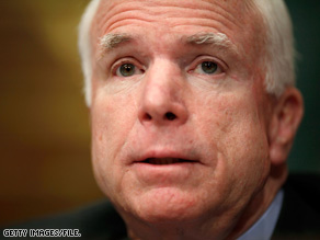 Sen. John McCain recommended expanding the Afghan army to between 160,000 and 200,000 troops.