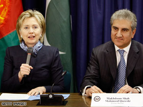 Secretary of State Hillary Clinton plans regular trilateral meetings with the Pakistani and Afghan ministers.