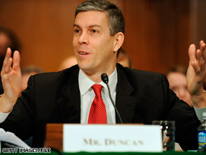 Education Secretary Arne Duncan suggests giving incentives to teachers whose students perform well.