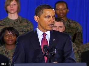 Obama says he plans to keep up to 50,000 support troops in Iraq after the combat mission ends in 2010.