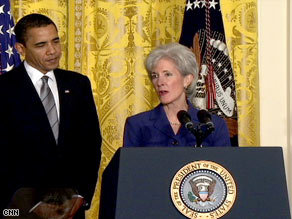 "Sebelius said that health care reform ""isn't a partisan challenge; it's an American challenge."""