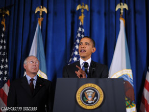 President Obama, with Interior Secretary Ken Salazar, marked the agency's 160th birthday Tuesday.