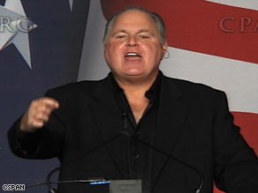 Radio host Rush Limbaugh has been vocal about his displeasure with President Obama's policies.