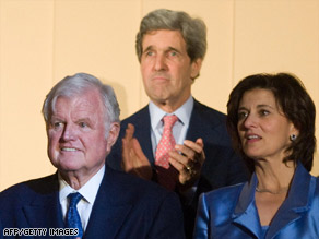 """President Obama leads the Kennedy Center in singing """"Happy Birthday"""" to Sen. Ted Kennedy."""