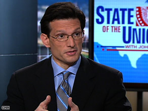 "U.S. Rep. Eric Cantor also says the policy reversal could lead to embryo harvesting, which ""shouldn't be done."""