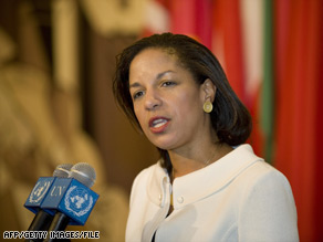 Susan Rice, the U.S. ambassador to the United Nations, has expressed concern about Iran's nuclear program.