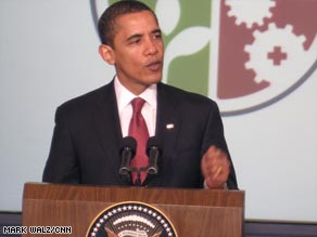 "Stimlulus money has ""got to be spent wisely,"" President Obama tells state leaders on Thursday."