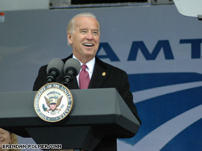 "Vice President Joe Biden called Amtrak ""an absolute national treasure and necessity."""