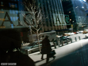 President Obama says he will try to block bonuses for AIG executives.