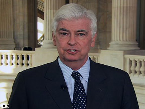 "Sen. Chris Dodd, D-Connecticut, appears on CNN's ""The Situation Room"" on Wednesday."
