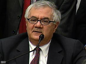 "Rep. Barney Frank says the bailout has resulted in ""de facto nationalizing"" for companies that received it."