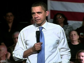 President Obama speaks Wednesday at a town-hall-style meeting in Costa Mesa, California.