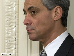 White House Chief of Staff Rahm Emanuel met with veterans' groups on Wednesday.