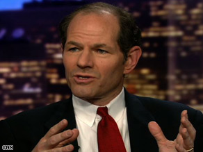 Ex-New York Gov. Eliot Spitzer says focusing on those AIG bonuses misses the bigger financial picture.