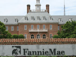 A view of Fannie Mae headquarters is seen on July 14, 2008, in Washington.