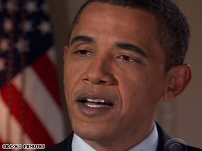 In a '60 Minutes' interview, President Obama said, 'I fundamentally disagree with Dick Cheney'.