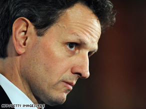 "Treasury Secretary Tim Geithner is expected to seek ""resolution authority"" to deal with the financial crisis."