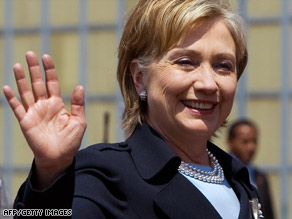 Secretary of State Hillary Clinton is in Mexico for a series of meetings on the drug crisis and other issues.
