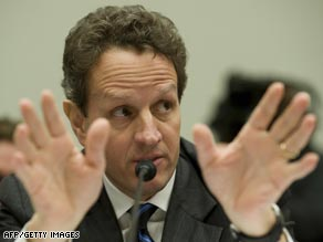 Timothy Geithner announced his plan for taking toxic assets off of the balance sheets of troubled banks.