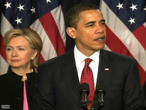 "President Obama, here with Hillary Clinton on Friday, calls the situation in Afghanistan ""increasingly perilous."""