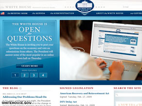 President Obama held an online town hall, in which people could send in questions from their computers.