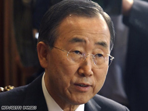 U.N. Secretary-General Ban Ki-moon says U.S. would have a significant impact on the human rights council.