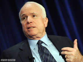 Sen. John McCain says he supports President Obama's efforts in Afghanistan.