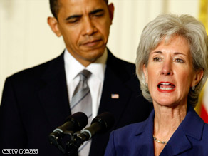 "Gov. Kathleen Sebelius says action to repair the health care system is ""not a choice. It is a necessity."""