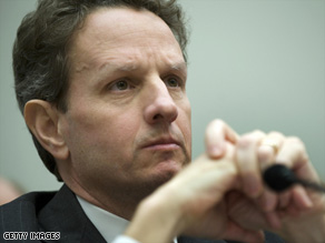 The bill would give Treasury Secretary Tim Geithner greater say on executive compensation.
