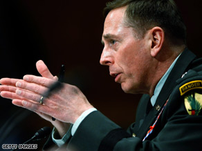 Gen. David Petraeus testifies before the Senate Armed Services Committee.